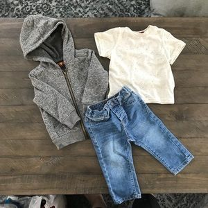 7 For All Mankind outfit, size 12 month